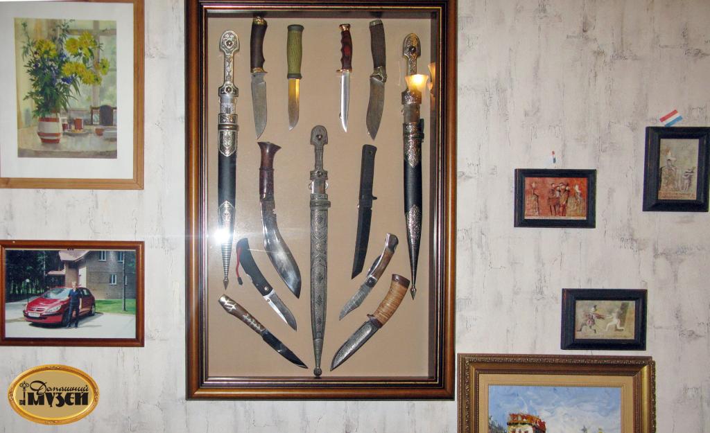 как разместить коллекцию ножей на стене фото хранители истории